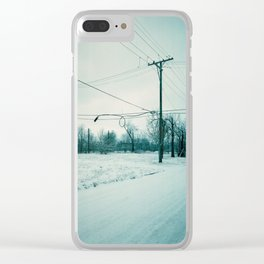 Abandoned Neighborhood in Detroit, Michigan Clear iPhone Case