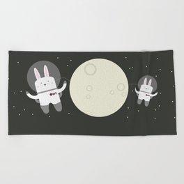 Astro Bunnies Beach Towel