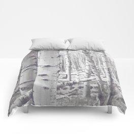 Black and White Aspens Comforters