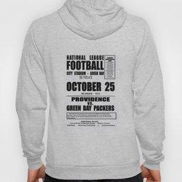 1931 Football Game Poster Providence Steam Roller vs. Green Bay - City Stadium Wisconsin Hoody