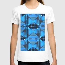 BLUE CRYSTAL GEMS PATTERN T-shirt