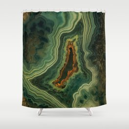 The world of gems - green agate Shower Curtain