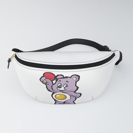 PING PONG TEDDY Table Tennis Bat Player Gift Fanny Pack