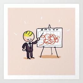 Sales Art Print