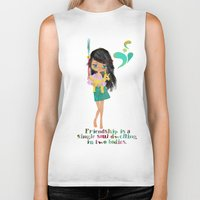friendship Biker Tanks featuring friendship by Elisandra