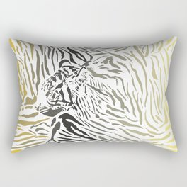 Tiger camouflage background with head Rectangular Pillow