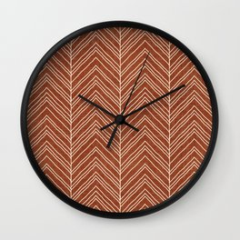 Strand in Rust Wall Clock