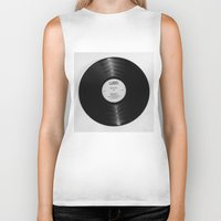 record Biker Tanks featuring Record by RMK Creative
