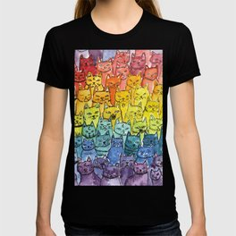 the pride cat rainbow  squad T-shirt