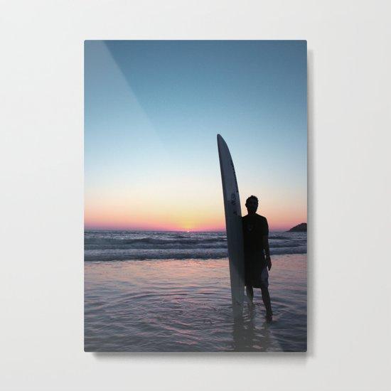 Summer Surfer Metal Print