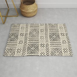 Line Mud Cloth // Bone Rug