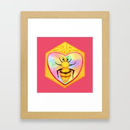 Bee Hugger - Save The Bees Framed Art Print