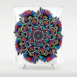 Festive Mandala Shower Curtain