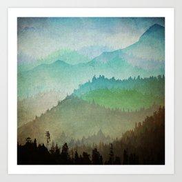 Watercolor Hills Art Print