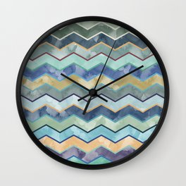 Watercolor Colorful Wave Wall Clock