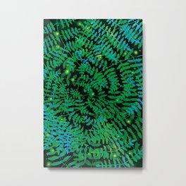 Fireflies & Ferns Metal Print
