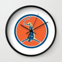 Bungy Jumping Retro Circle Wall Clock