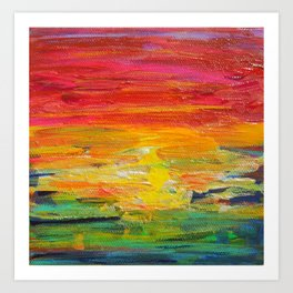Ombre Rainbow Sunset Art Print