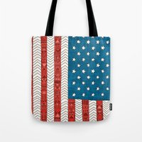 novelty Tote Bags featuring USA by Bianca Green