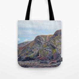 Hartland Quay Cliffs Tote Bag