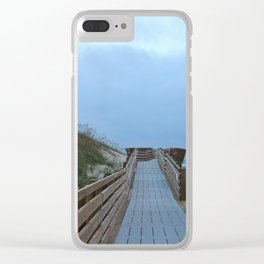 Dreary Days and Getaways Clear iPhone Case