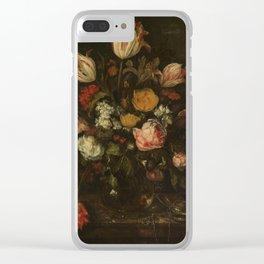 Abraham Hendricksz. van Beyeren - Still life with flowers (1650-1670) Clear iPhone Case