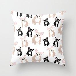 Cute French Bulldog Pattern Throw Pillow