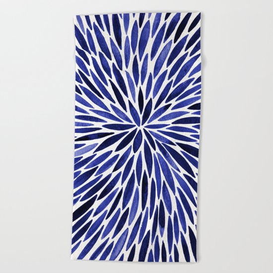 Navy Burst Beach Towel