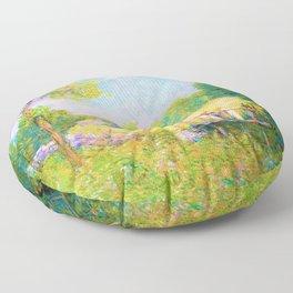 Julian Alden Weir - The Fishing Party - Digital Remastered Edition Floor Pillow