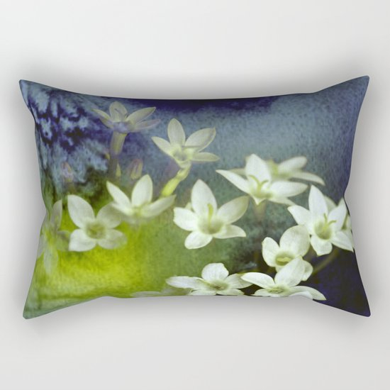little white flowers and watercolors Rectangular Pillow