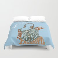 buffy the vampire slayer Duvet Covers featuring Under your spell - buffy the vampire slayer by Rebecca McGoran