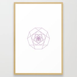 #281 Another rose – Geometry Daily Framed Art Print