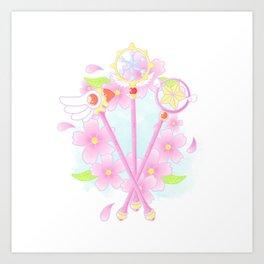 cardcaptor sakura wands Art Print