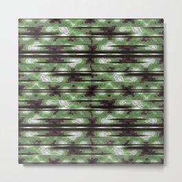 Stripes Camo Pattern Print Metal Print
