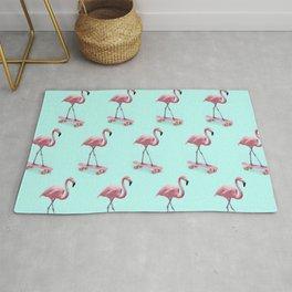 Skating Flamingo Rug
