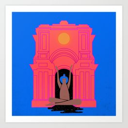 moon goddess illustration Art Print