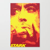 stark Canvas Prints featuring Stark by Logman Vilhelmson