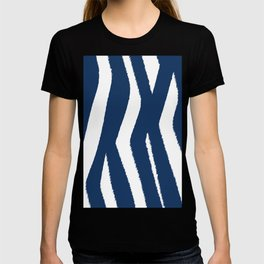 Blue and White Zebra Stripes T-shirt