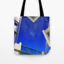 Blue Night Abstract Tote Bag