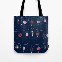 Night Lanterns Tote Bag