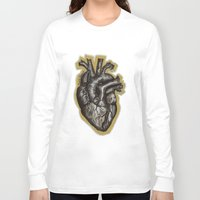anatomical heart Long Sleeve T-shirts featuring Anatomical Heart by Micaela Payne