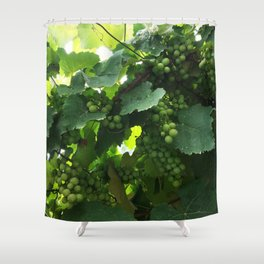 Green grapes Nature Design Shower Curtain