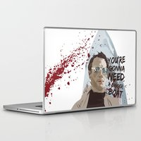 jaws Laptop & iPad Skins featuring Jaws by Colo Design