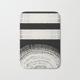 Nordic balck and white abstract Bath Mat