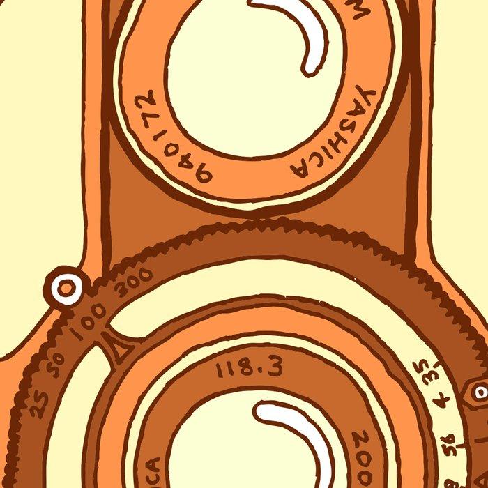 Vintage camera orange Leggings