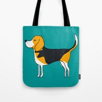 beagle Tote Bags featuring Beagle by MaJoBV