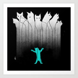 Clowder (White, without lines) Art Print