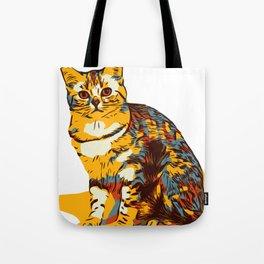 Colorfull vector cat Tote Bag
