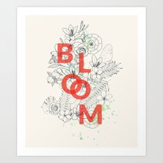 Vintage Bloom #society6 Art Print