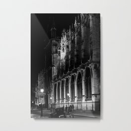 A View of the Northern Edge of Notre Dame Cathedral, Paris, France Metal Print
